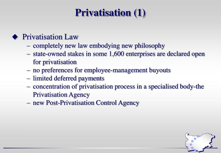 Privatisation (1)