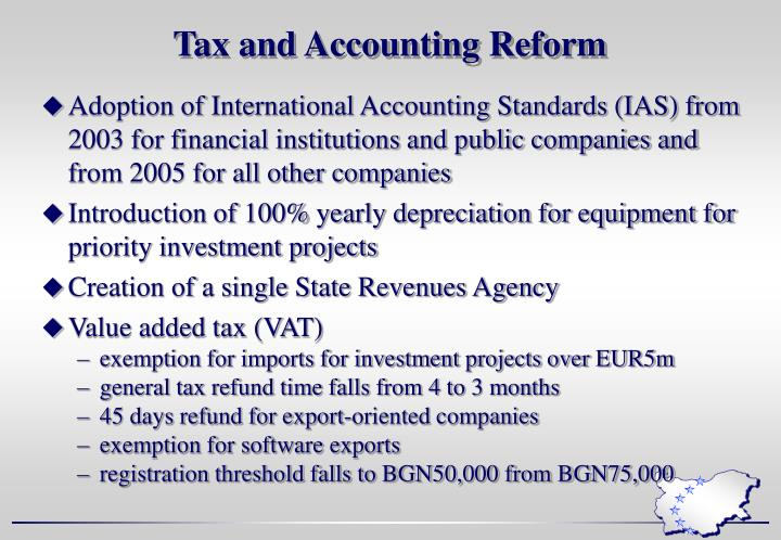 Tax and Accounting Reform