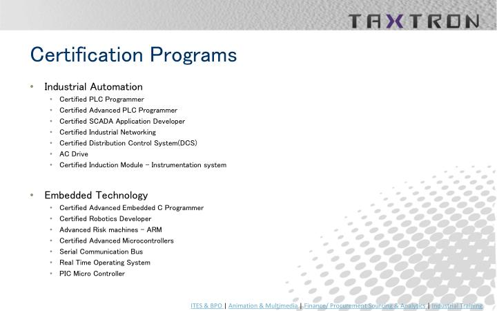 Certification Programs