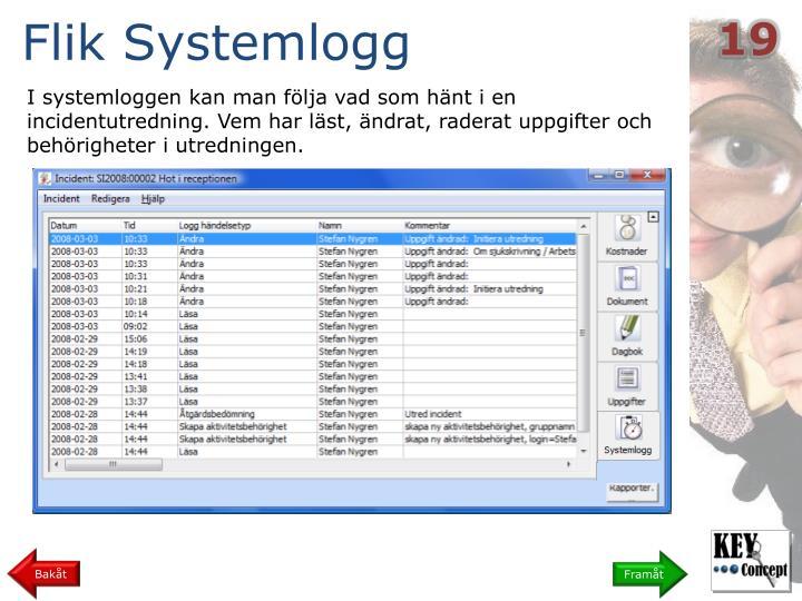 Flik Systemlogg