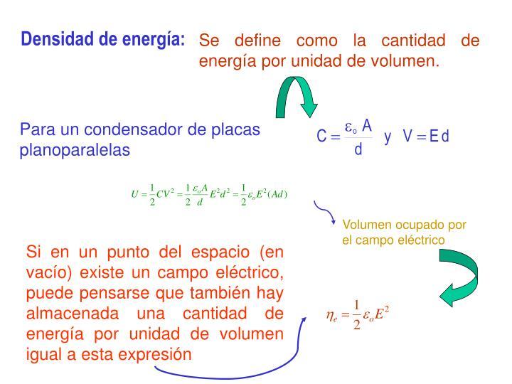 Densidad de energía: