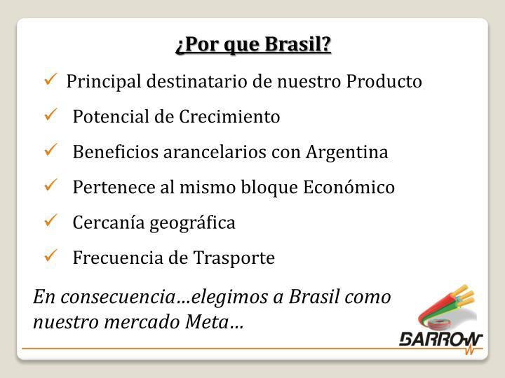¿Por que Brasil?
