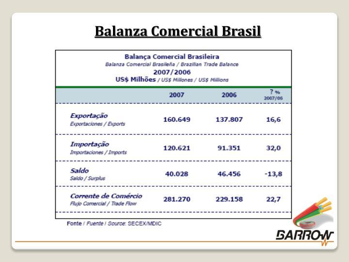 Balanza Comercial Brasil