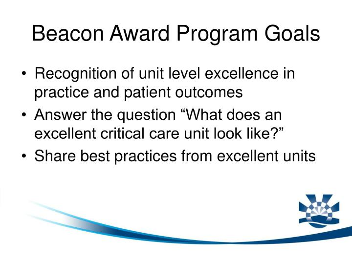 Beacon Award Program Goals