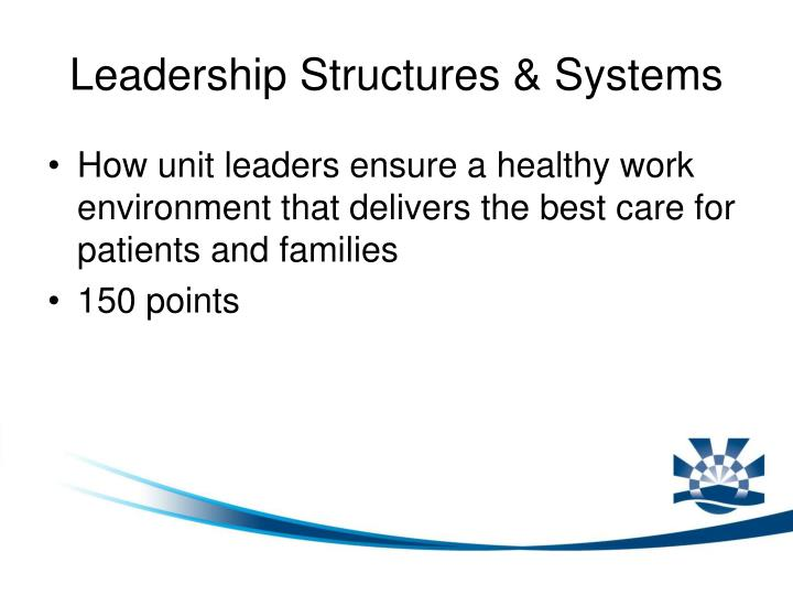 Leadership Structures & Systems
