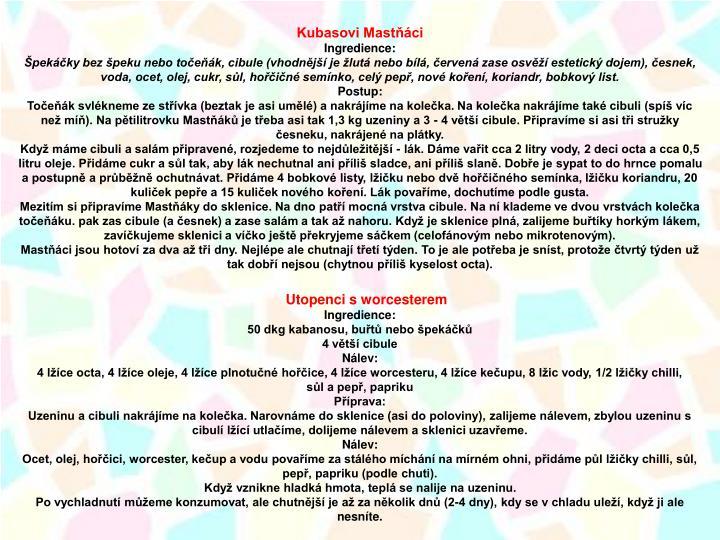 Kubasovi Mastňáci