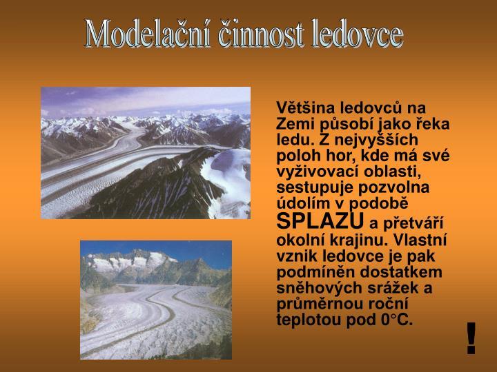 Modelační činnost ledovce