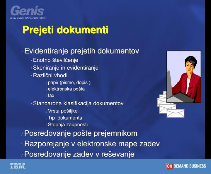 Prejeti dokumenti