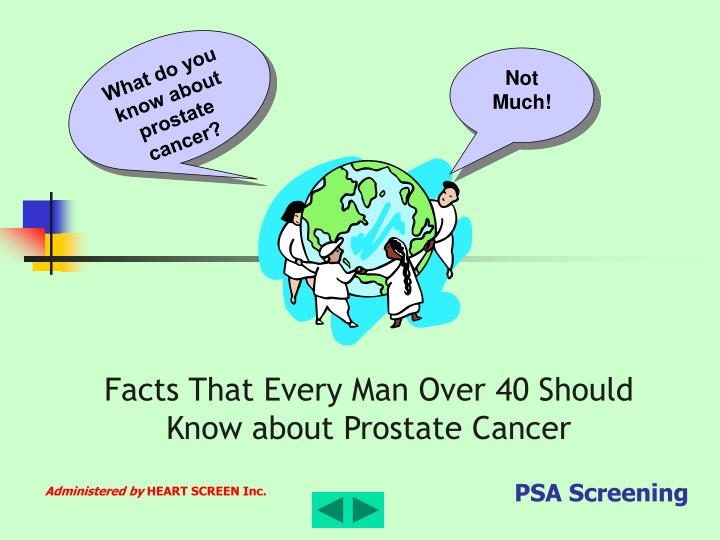 What do you know about prostate cancer?