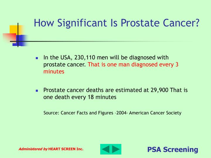 How Significant Is Prostate Cancer?