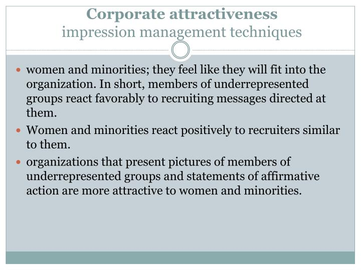 Corporate attractiveness