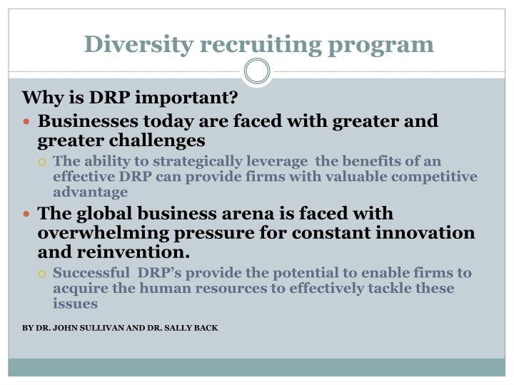 Diversity recruiting program