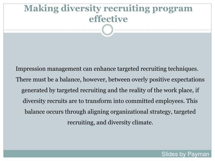 Making diversity recruiting program effective