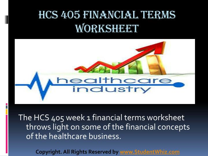 Hcs 405 financial terms worksheet