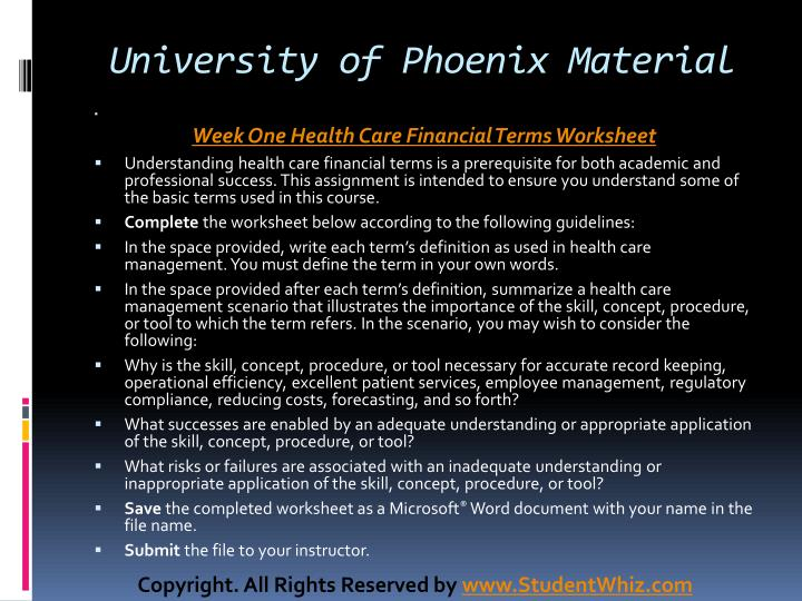 University of Phoenix Material