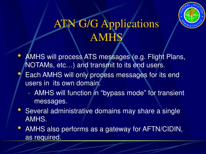ATN G/G Applications