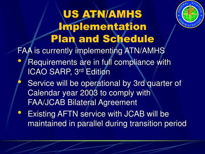 US ATN/AMHS Implementation