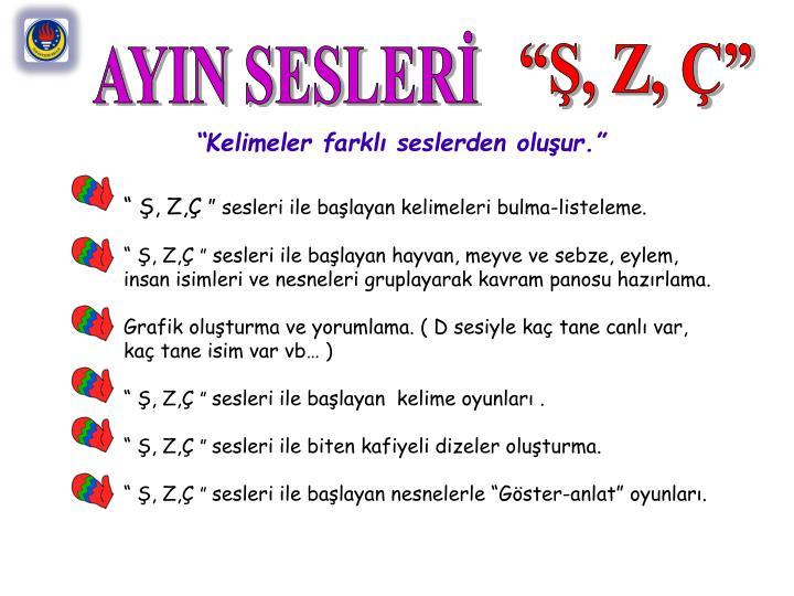 AYIN SESLERİ