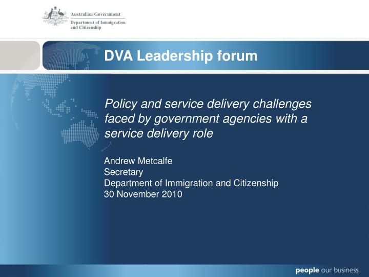 DVA Leadership forum