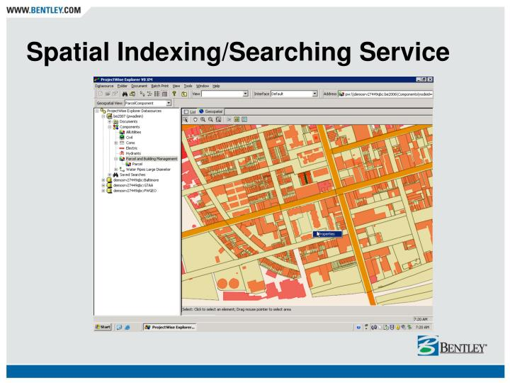 Spatial Indexing/Searching Service