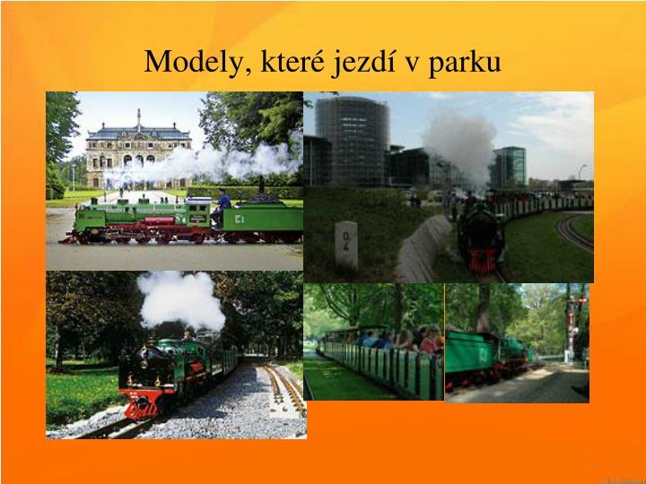 Modely, které jezdí v parku