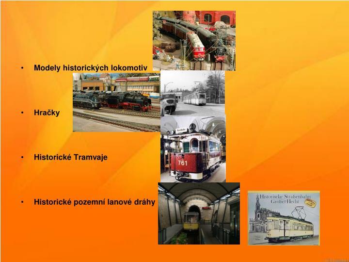 Modely historických lokomotiv