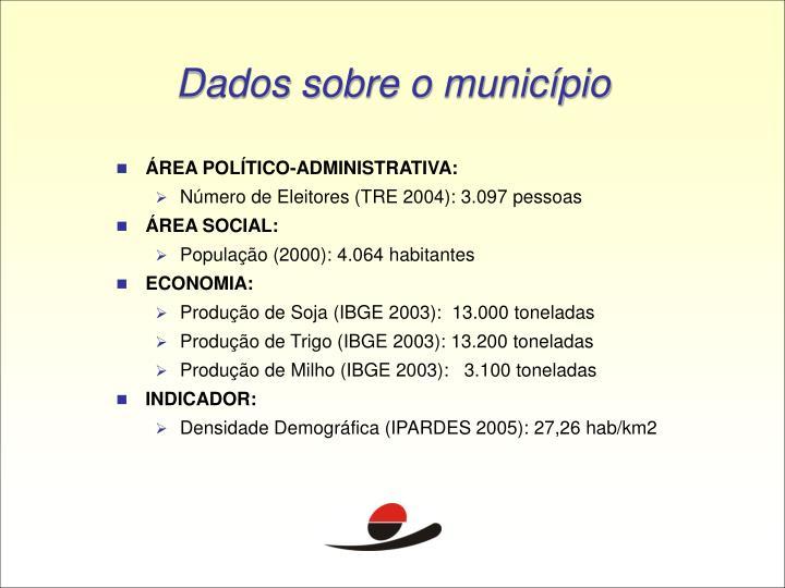 Dados sobre o município