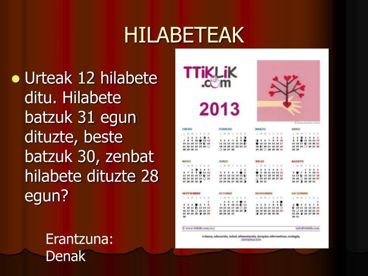 HILABETEAK