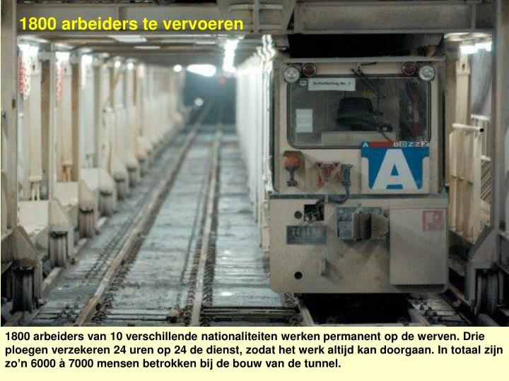 1800 arbeiders te vervoeren