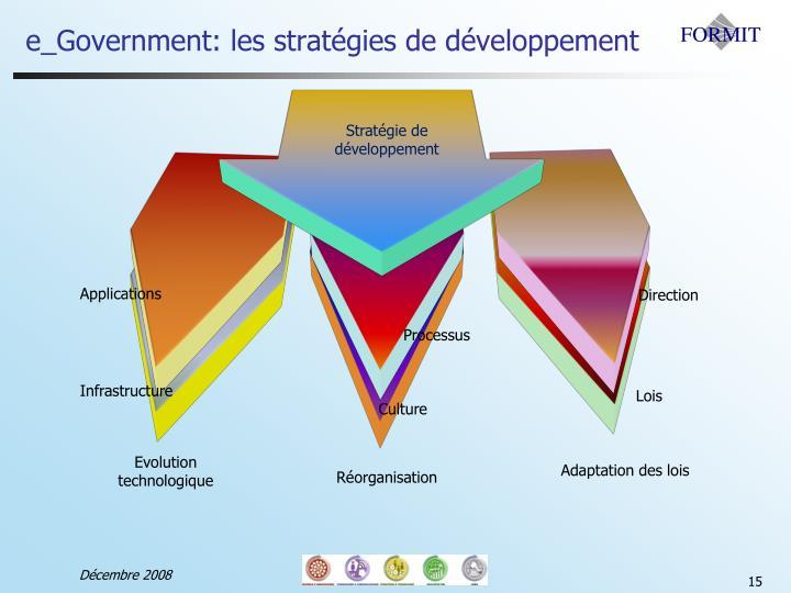 e_Government: les stratégies de développement