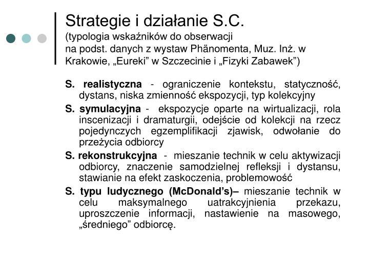 Strategie i działanie S.C.