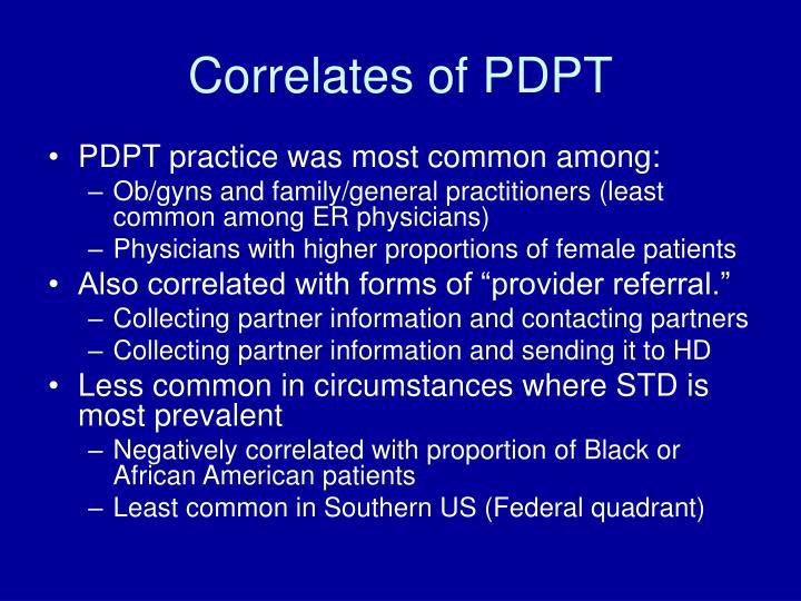 Correlates of PDPT
