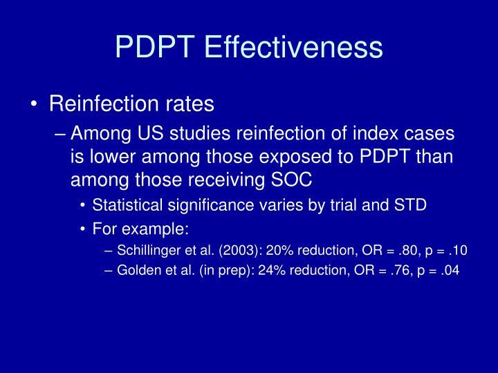 PDPT Effectiveness