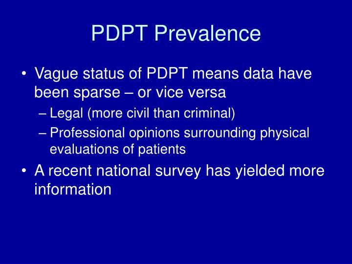 PDPT Prevalence