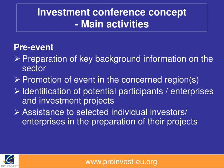 Investment conference concept