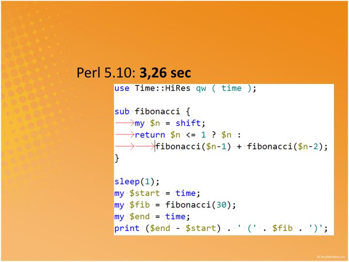 Perl 5.10: