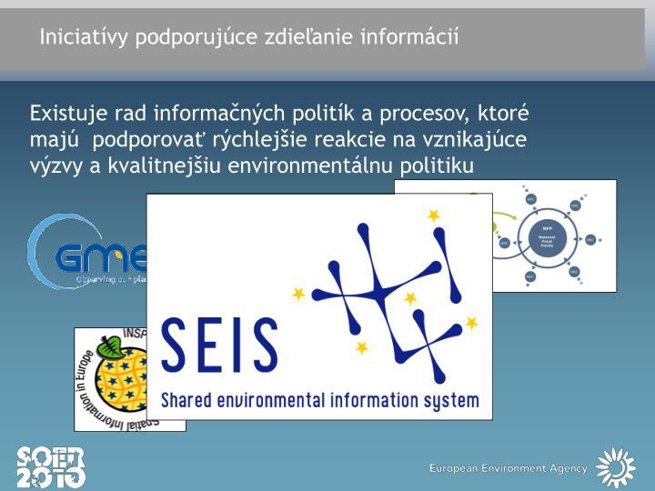 Iniciatívy podporujúce zdieľanie informácií