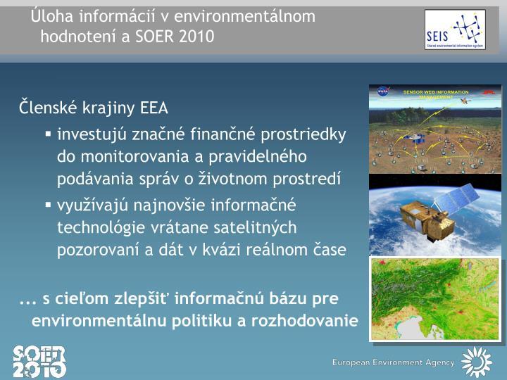 Úloha informácií v environmentálnom
