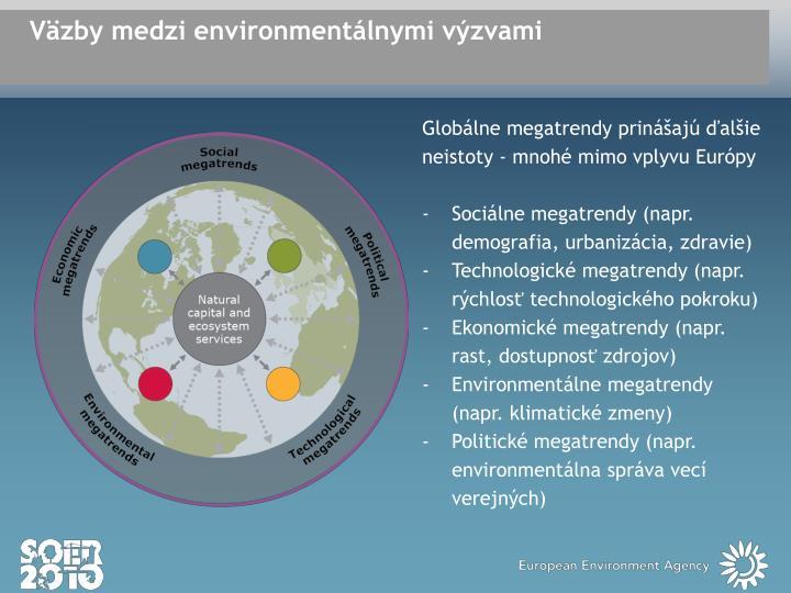 Väzby medzi environmentálnymi výzvami
