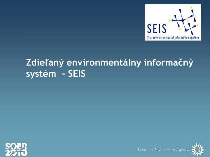 Zdieľaný environmentálny informačný systém