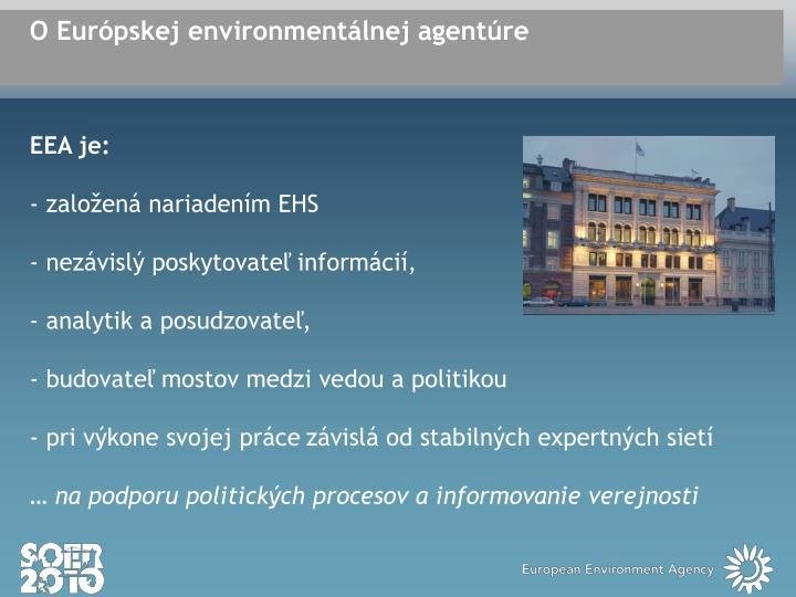 O Európskej environmentálnej agentúre