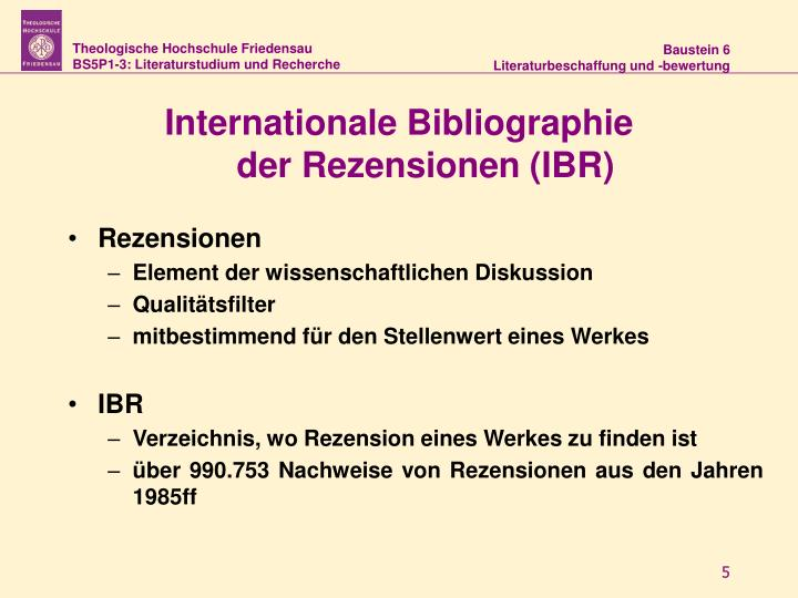 Internationale Bibliographie