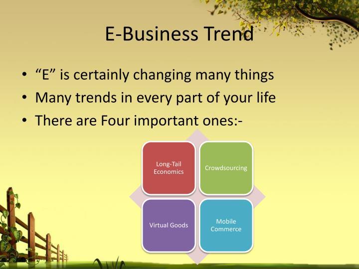 E-Business Trend