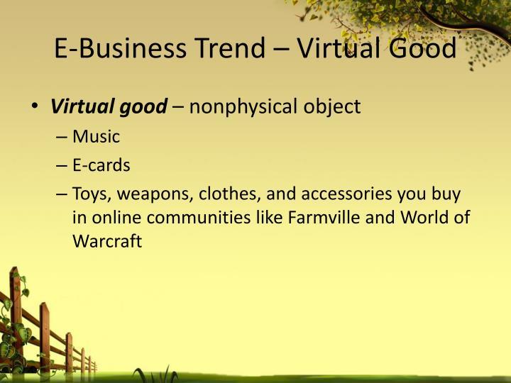 E-Business Trend –