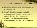 student learning outcomes