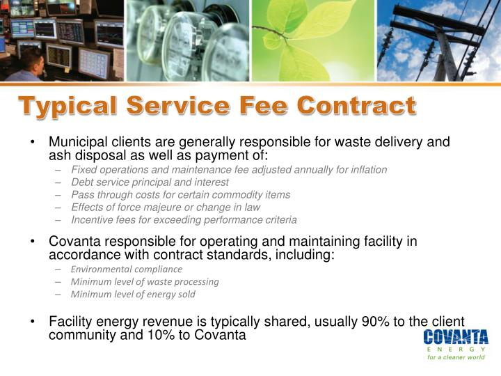 Typical Service Fee Contract