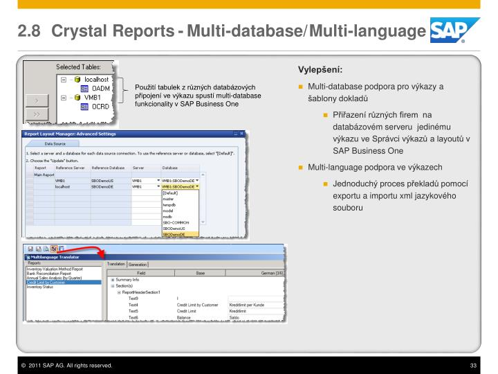 2.8 Crystal Reports
