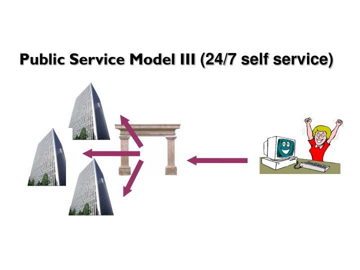 Public Service Model III