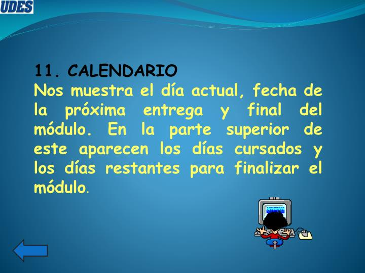 11. CALENDARIO