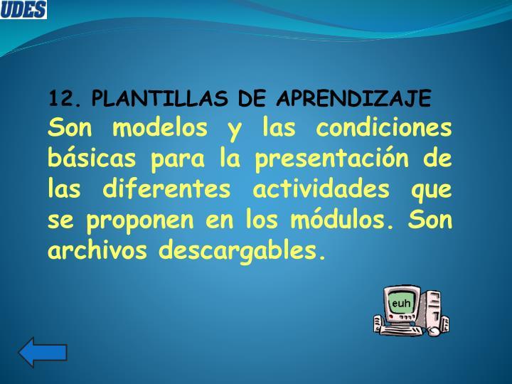 12. PLANTILLAS DE APRENDIZAJE